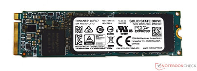 SSD M.2 PCIe Toshiby