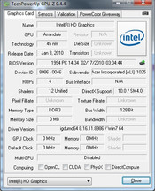 GPU-Z: Intel GMA HD