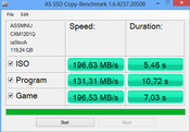 AS SSD Copy-Benchmark