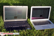 Dell Vostro V131 (z lewej) a Apple MacBook Air 13 (z prawej)