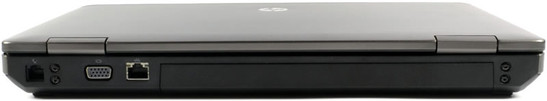 tył: RJ-11 (gniazdo modemowe), VGA, RJ-45 (LAN), akumulator