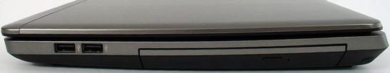 prawy bok: 2x USB 2.0, napęd optyczny